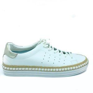 Sam Edelman White leather espadrille sneakers